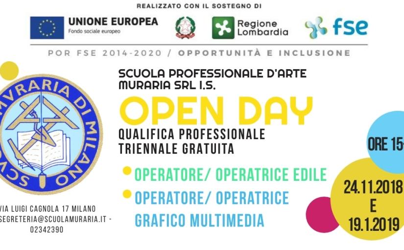 Open day percorsi IeFP della Scuola Professionale d'ArteMuraria